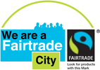Fairtrade City Logo and link to HCC